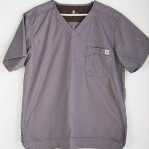 Carhartt Dusty Purple Short Sleeve Scrub Top